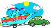 0060-0807-0814-2524_Car_Towing_a_Boat_clipart_image.jpg
